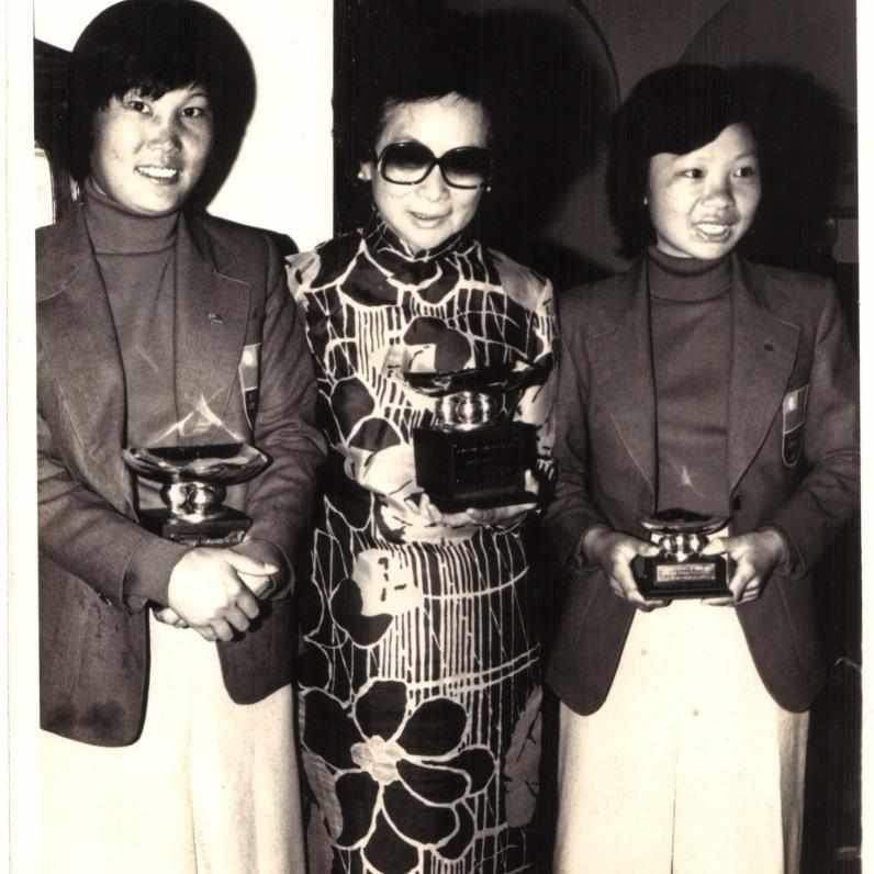 1979年世界業餘錦標賽 與領隊牛媽媽